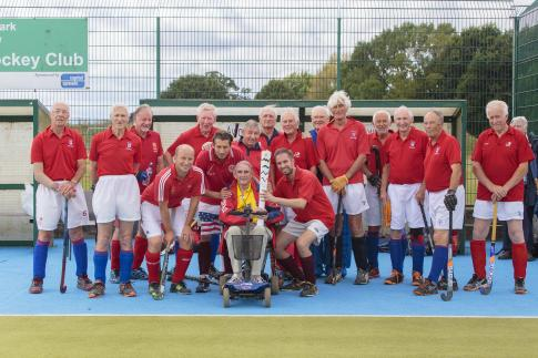 Gerald Wilkinson celebrates his 82nd birthday with his invitation team at Chelmsford